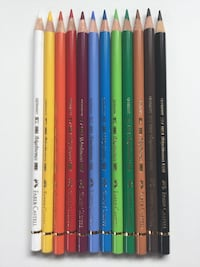 Faber-Castell Polychromos Colored Pencils - 12 set