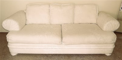 Off White Sofa/Couch, Chair and Ottoman