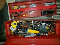 Misc tools and metal box Angus, L0M