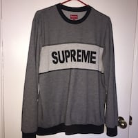 Gray and black supreme tonal crew neck Barrie, L4M 4N9