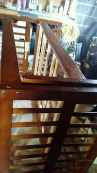 brown wooden crib with changing table 331 mi
