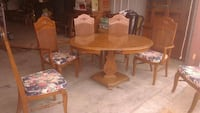 Wood table and 6 chairs w/matching hutch Eufaula, 36027