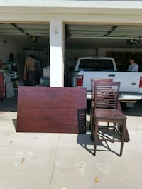 brown wooden table with chairs Colton, 92324