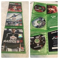 Madden 18, Madden 16, and NBA 2k16 all for $25! Riverview, 33578