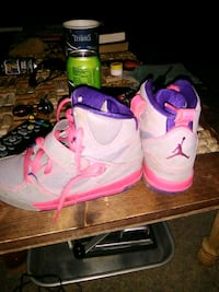 pair of pink-and-white  Jordan'sshoes Springfield, 37172