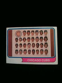 1974 Topps Baseball Card #211 Chicago Cubs Team Records Card