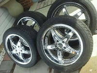 """18""""millanni wheels with next to new tires"""