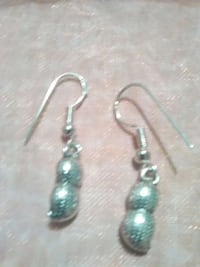 Sterling silver peanut earrings