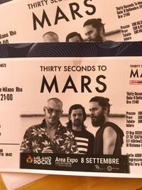 Thirty Seconds to Mars Milano Rocks Concert (2 biglietti PIT area sotto palco) Milan, 20133