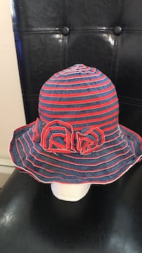 women's red and gray sunhat Vancouver, V5X 1T5