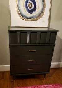 dark grey mcm chest of drawers w/ gold-dipped legs Gastonia, 28054