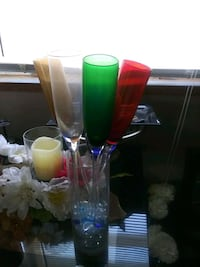 assorted-color glass vase lot Wichita, 67216