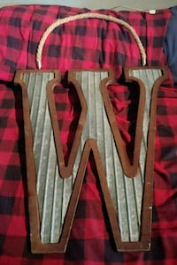 """Kirkland's decor """"W"""" initial with rope Erie"""