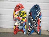 two blue and red skateboard decks Oakville, L6H