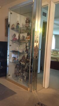 stainless steel frame glass door display cabinet