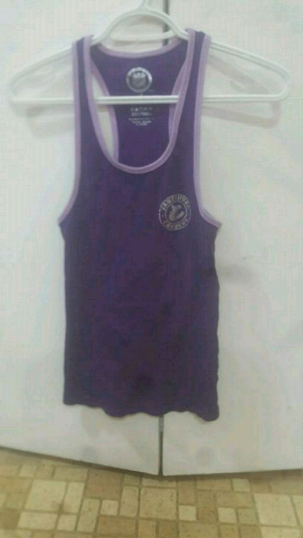 women's purple tank top