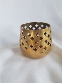 Small brass candle holder