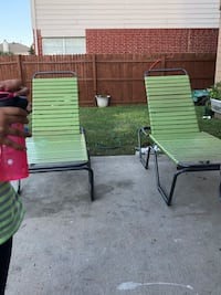 two green and white armchairs Fort Worth, 76123