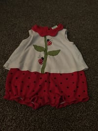 toddler's white and red dress Morristown, 37813