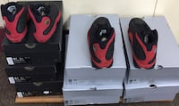 """Air Jordan Nike """"Bred 13s"""" black and red basketball shoes size 5y-7y, 9-10.5, 12"""