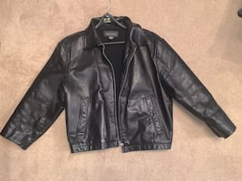 Men's XL - Leather jacket Banana Republic