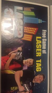 Free game of laser tag coupon Spruce Grove, T7X 2T2