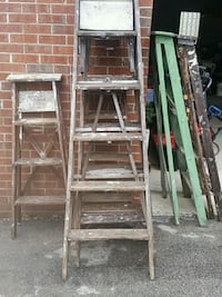 3 6ft wooden ladders Youngstown, 44505