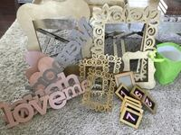assorted frames and wall decors