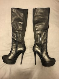 Steve Madden black knee high stiletto boots Vaughan, L6A 3C4