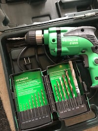 Hitachi drill and assorted bits Dumont, 07621