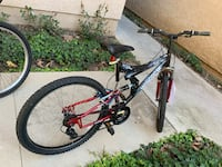 black and red full suspension mountain bike Brea, 92821