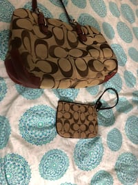 Brown and black coach monogram hobo bag Falls Church, 22046
