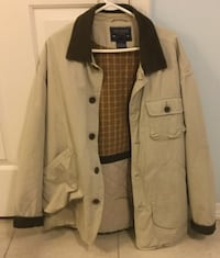 beige button-up collared jacket