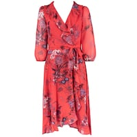 nwt Gabby Skye Floral Wrap Dress red 12 Burnaby