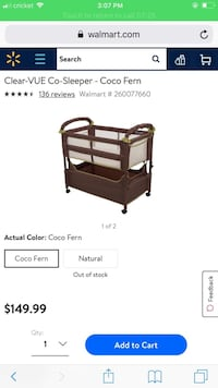 brown wooden crib with changing table screenshot Hickory, 28602
