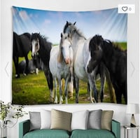 HORSES WALL HANGING TAPESTRY NEW  Victoria