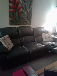 Leather Recliner/Loveseat/Coffee table/tv stand