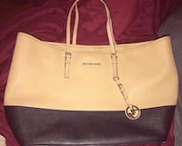 women's white and brown leather tote bag Breaux Bridge, 70517