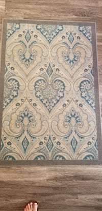 Small carpet - blue and grey