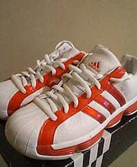 red and white adidas basketball shoes Manassas, 20110