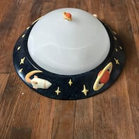 "Cool Ceramic Space Themed 17"" Light fixture for kids room 530 mi"