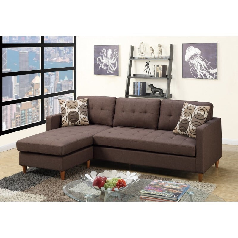 NEW REVERSIBLE SECTIONAL SOFA BROWN