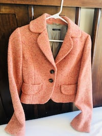 Women's tweed shrunken wool jacket (size small)
