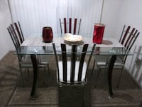 rectangular glass top table with four chairs dinin Henderson, 89014