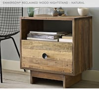 West Elm *NEW* EMMERSON® RECLAIMED WOOD NIGHTSTAND - NATURAL Somerville, 02145