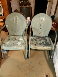Old metal chairs