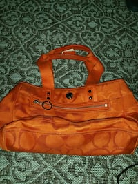 Orange Canvas Coach Bag Clinton, 20735