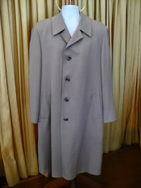 MEN'S ALL WOOL TWILL OVERCOAT - TRADITIONAL - SIZE 42 Markham