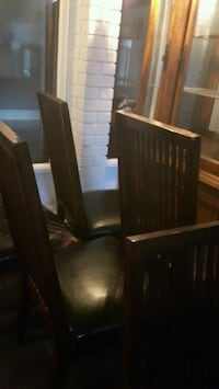brown wooden table with 4 chairs Toronto, M6A 2P2