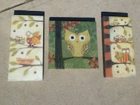 3 Matching Owl Wall Hangings Pictures St. Louis, 63123